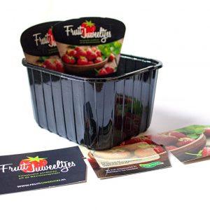 Insteekkaartjes voor aardbeienbakje
